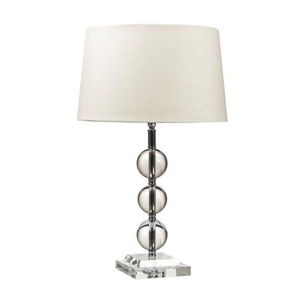 Burlington Lampe mit Bleikristallkugeln und Lampenschirm Lucille