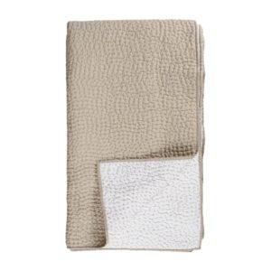 Handbestickte Steppdecke Quilt Beige
