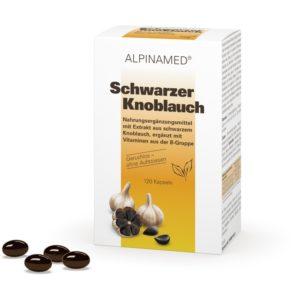 Schwarzer Knoblauch 120 Kapseln Alpinamed geruchlos, glutenfrei, lactosefrei, ohne Konservierungsmittel