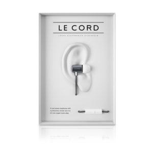 Kopfhörer in-Ear Le Cord silver