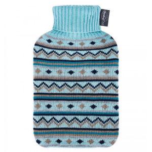Fashy Wärmeflasche mit Strickbezug, 2 Liter - Wärme zum Wohlfühlen