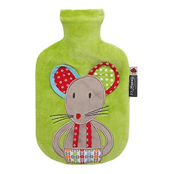 Babygeschenk - Fashy Kinderwärmeflasche Maus 0.8 Liter - Wärme zum Wohlfühlen