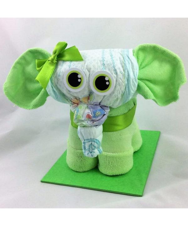 Allerliebster Windel-Elefant, eines der tollen Geschenke zur Geburt oder Taufe fürs Baby