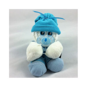 Amüsantes Sockenbaby, eines der tollen Geschenke zur Geburt oder Taufe fürs Baby