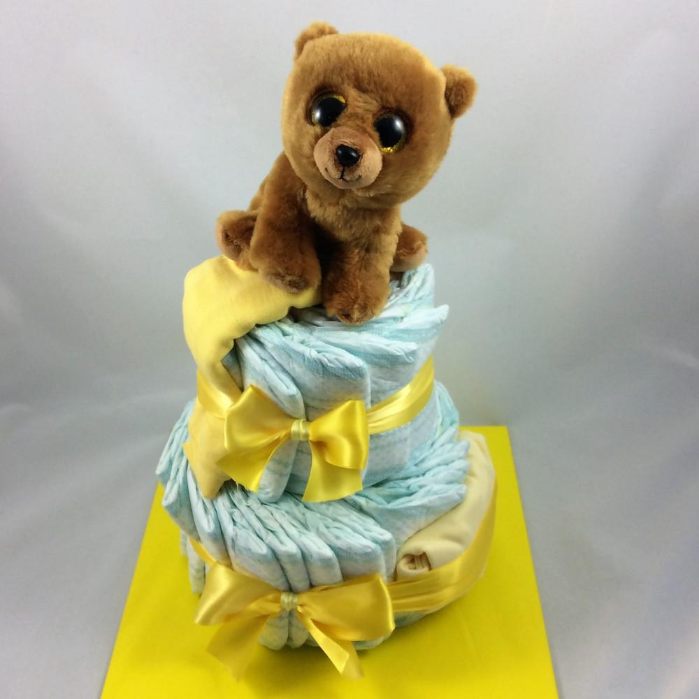 Aussergewöhnliche Windeltorte Klein Eines Der Tollen Geschenke Zur Geburt Oder Taufe Fürs Baby