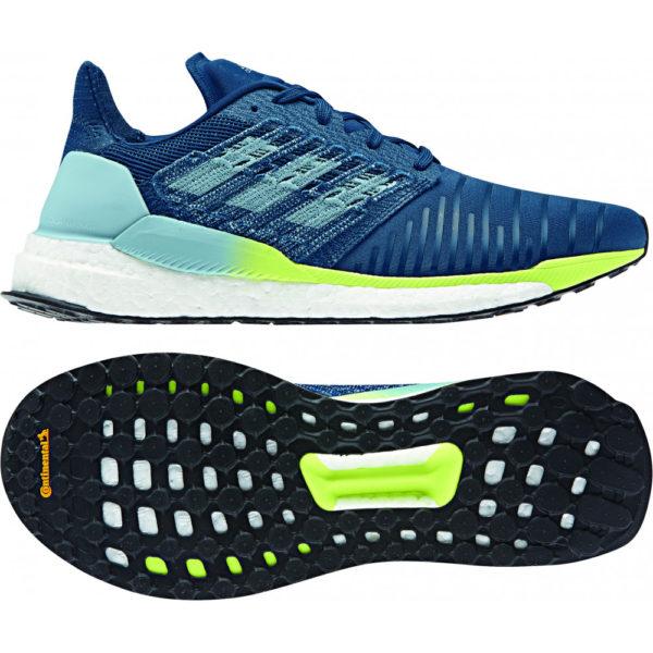 adidas Solar Boost Laufschuhe Herren Running blau gelb