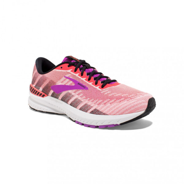 Brooks Ravenna 10 Damen, Coral/Purple/Black