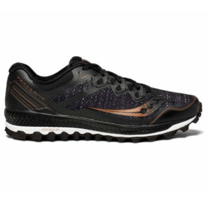 Saucony Peregrine 8 Herren, Black/Denim/Copper
