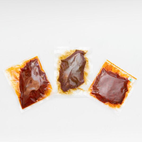 Hausmarinadensteak (Ross), Cognacsteak (Ross), Knoblauchsteak (Ross)