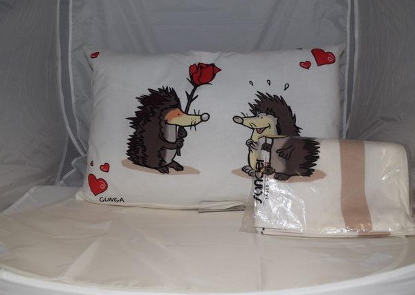 Kinder Bettwäsche mit Reissverschluss, 100 % Baumwolle, Grösse 100 x 135 cm und 40 x 60 cm